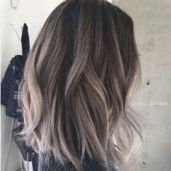 shag haircut brown hair with lavender grey streaks 14 cool two tone hair styles trendy hair color ideas 2017
