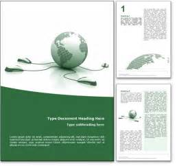 royalty free courses microsoft word template in green