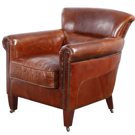 armchair with wheels deluxe club hennessy brown leather armchair with wheels