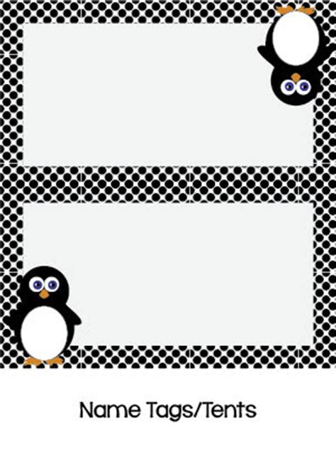 printable penguin name tags teacher graphics penguin decorations for the classroom