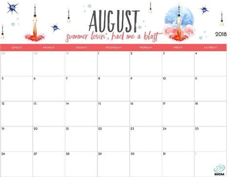 printable calendar 2018 fun cute printable calendar august 2018 larissanaestrada com