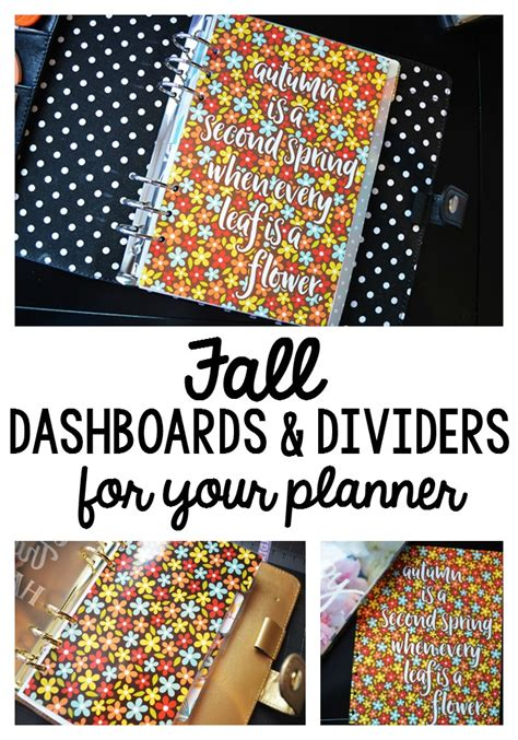 free printable planner dividers every leaf is a flower free printable fall planner