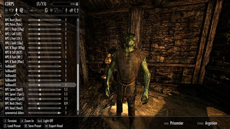xpms mod skyrim racemenu skeleton sliders for xpms at skyrim nexus mods
