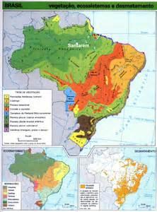 ecosystems map ecosystems brazil