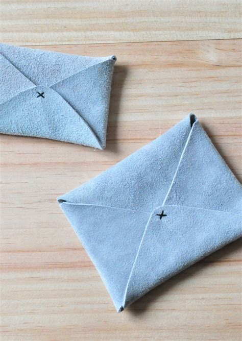 Origami Napkin Holder - card holder origami light grey leather le vestiaire de