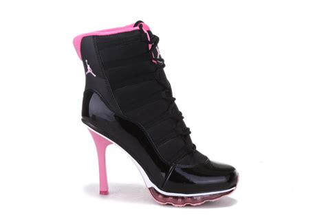 air high heels shoes low priced air 11 high heel shoes black pink on
