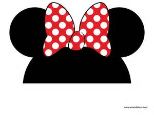 Minnie Mouse Ears Template Free by Instant Mickey Mouse Friends Clubhouse Inspired