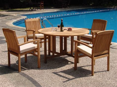 Wholesaleteak 5 Piece Grade A Teak Dining Set With 48 Wholesale Patio Dining Sets