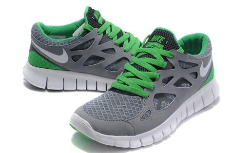 gray green white nike free run 2 s running shoes 60