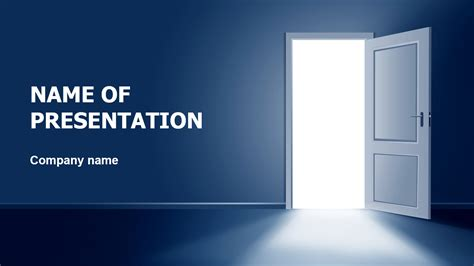 Download Free Open The Door Powerpoint Theme For Presentation A Template In Powerpoint