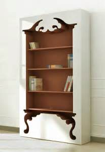 Unique Bookshelf Unique Bookcase With Vintage Style Inspired By Classic Furniture Forms Home Design Home Decor