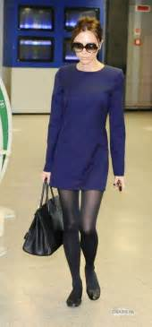 navy dress and black tights flats my style pinterest