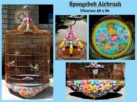 Batu Gambar Apace Sun Go Kong sangkar murai spongebob