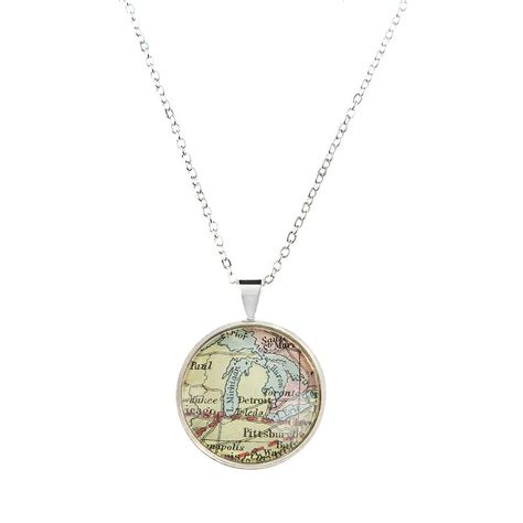personalised circle map location necklace by ellie ellie