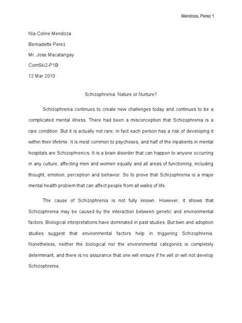 schizophrenia research paper research paper on schizophrenia