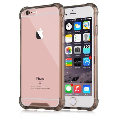 Anti Iphone 5 Iphone 6 Iphone 7 Iphone 7 capinhas para iphone 6s plus bordas translucida tpu silicone gel anti impacto