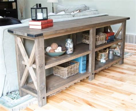 sofa table woodworking plans rustic sofa table plans woodworking projects plans
