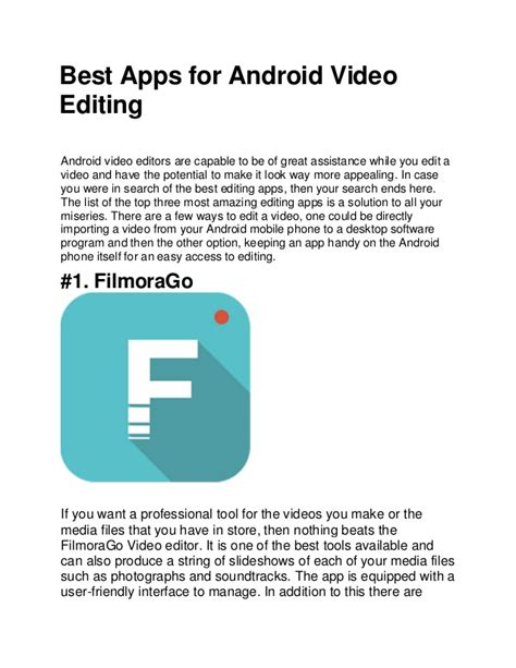 editing apps for android best apps for android editing