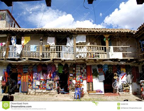 Handmade Craft Shop - craft souvenir shop in san blas cusco editorial photo