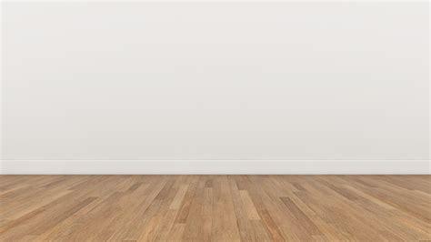 empty room white wall  wood brown floor  render