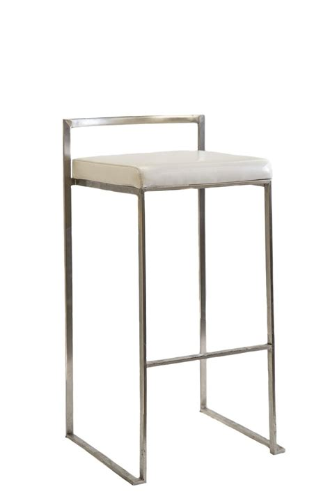 Silver And White Bar Stools by White Silver Stool