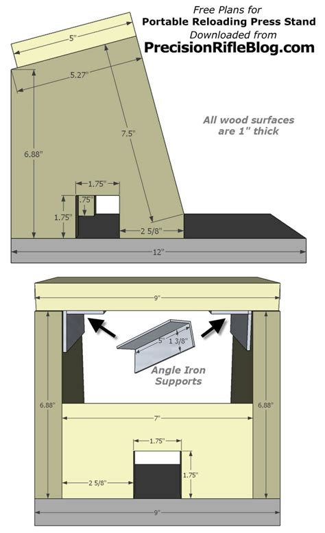 portable reloading bench plans portable reloading press plans precisionrifleblog com