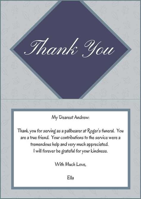 thank you for your service card template 33 best funeral thank you cards memorial ideas
