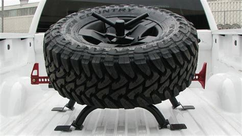 truck bed tire mount tiregate truck bed mount tire carrier