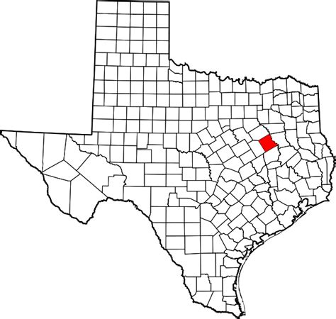 freestone county texas map file map of texas highlighting freestone county svg wikimedia commons