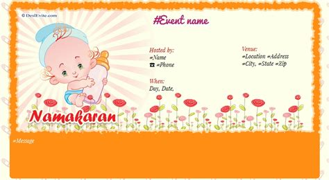 invitation cards designs for naming ceremony free naming ceremony namakaran invitation card invitations