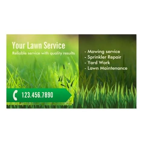 Card Templates Landscape by Professional Lawn Care Landscaping Business Card