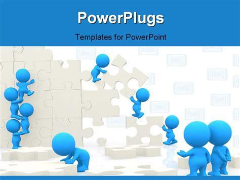 Best Powerpoint Template 3d Men Assembling Puzzle Puzzle Powerpoint Template