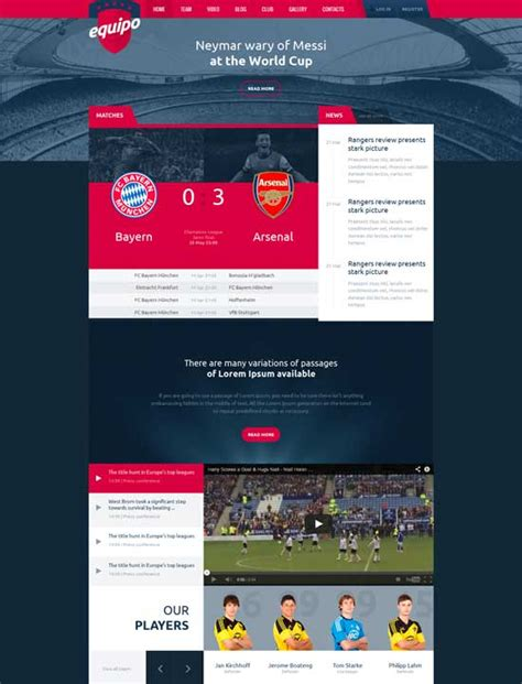 templates bootstrap free sports sports website templates new sports themes every month