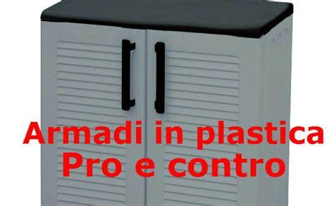 armadietto plastica armadi in plastica pro e contro materiale