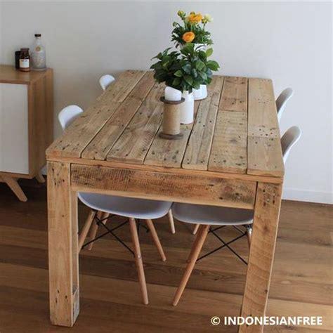 meja kayu rustic