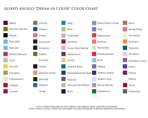 alfred angelo colors alfred angelo color chart search bestie s