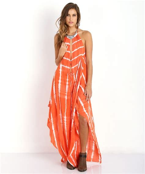 Dress Garis indah imani maxi dress garis orange imani free shipping at largo drive