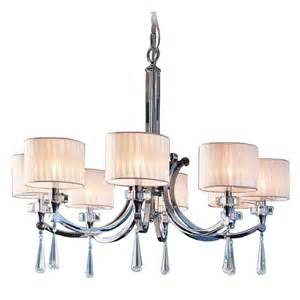 modern chandelier shades kichler modern chandelier with white shades in chrome