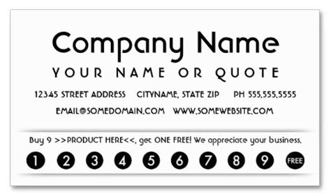 customer loyalty punch cards templates airloop