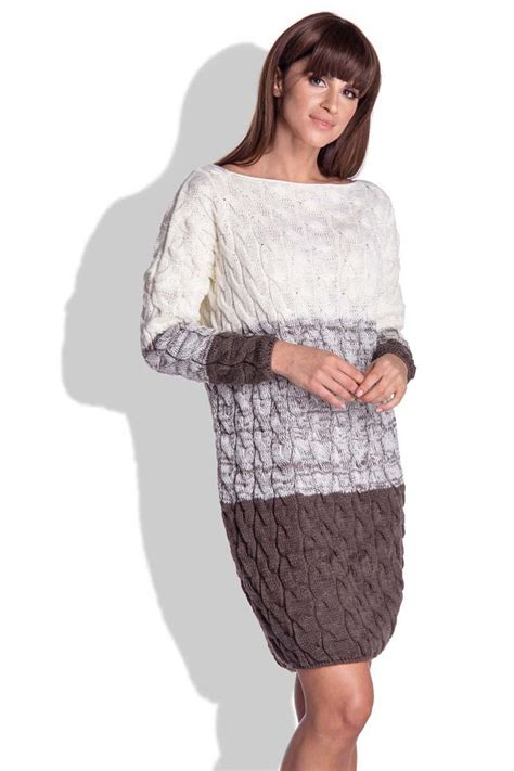 knitted winter dress brown knitted fall winter dress