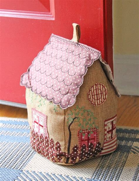 Patchwork Door Stop Pattern - 246 best houses fabric paper and more images on
