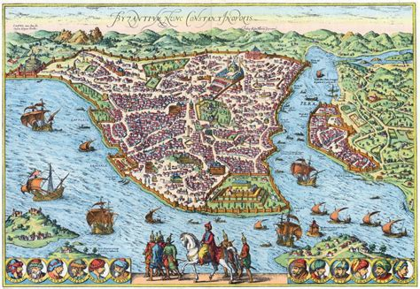 ottoman cities map of constantinople in the ottoman period istanbul
