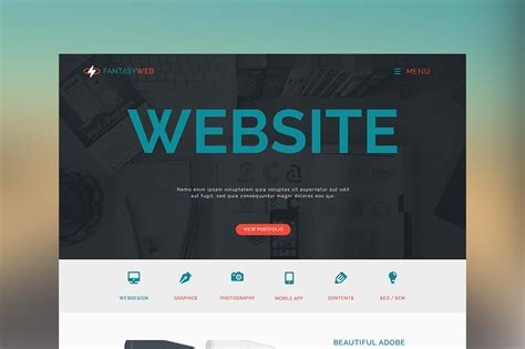 muse templates free web one page muse template website templates