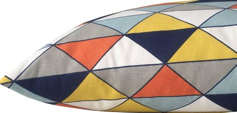 blaue und gelbe kissen kissenbezug dimensions dreiecke natur gelb blau grafisch