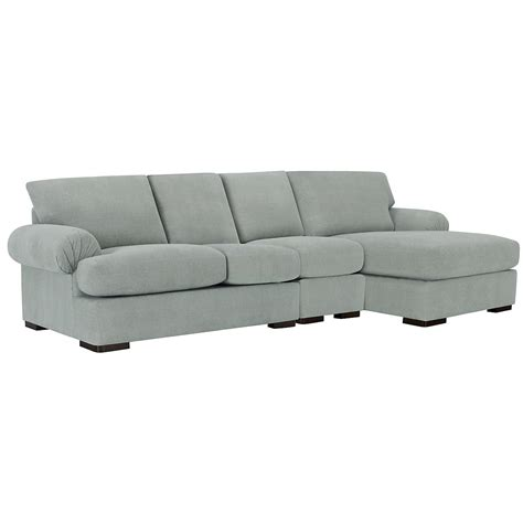 light blue sectional with chaise city furniture belair lt blue microfiber small right