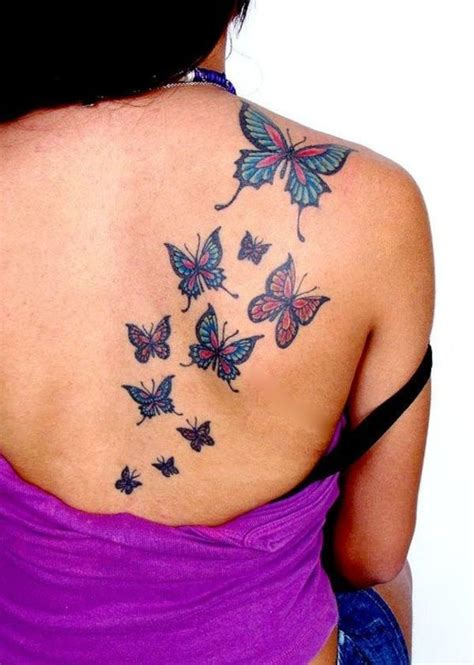 butterfly tattoo on your back amazing flying butterflies tattoos on right back shoulder