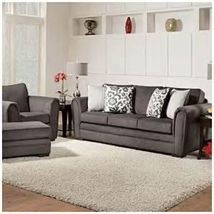 simmons flannel charcoal sofa 8787