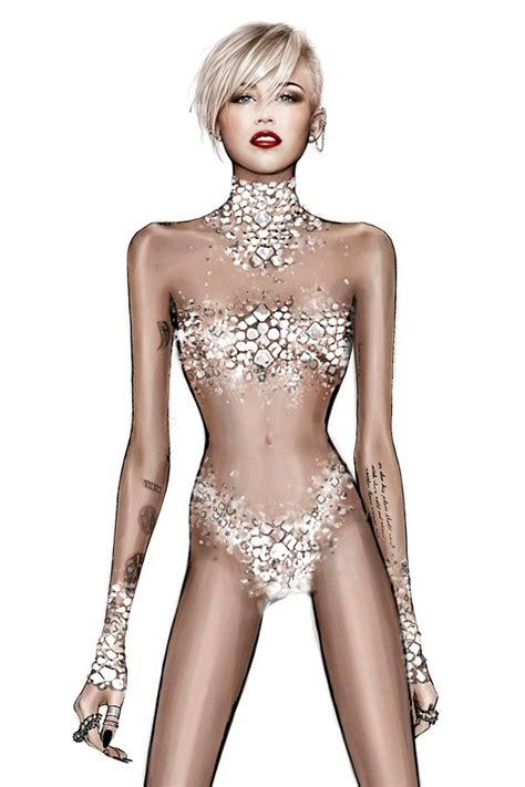 More Cavalli Design Sketches For Spice Tour The Union Is Back by Roberto Cavalli Creates Designs For Miley Cyrus Tour