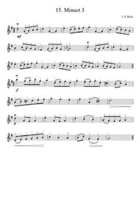 Minuet 2 Suzuki Suzuki Violin Method V 1 14 Bach Minuet 2 Musescore