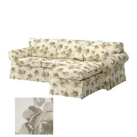 floral futon covers ikea ektorp 2 seat loveseat sofa with chaise cover